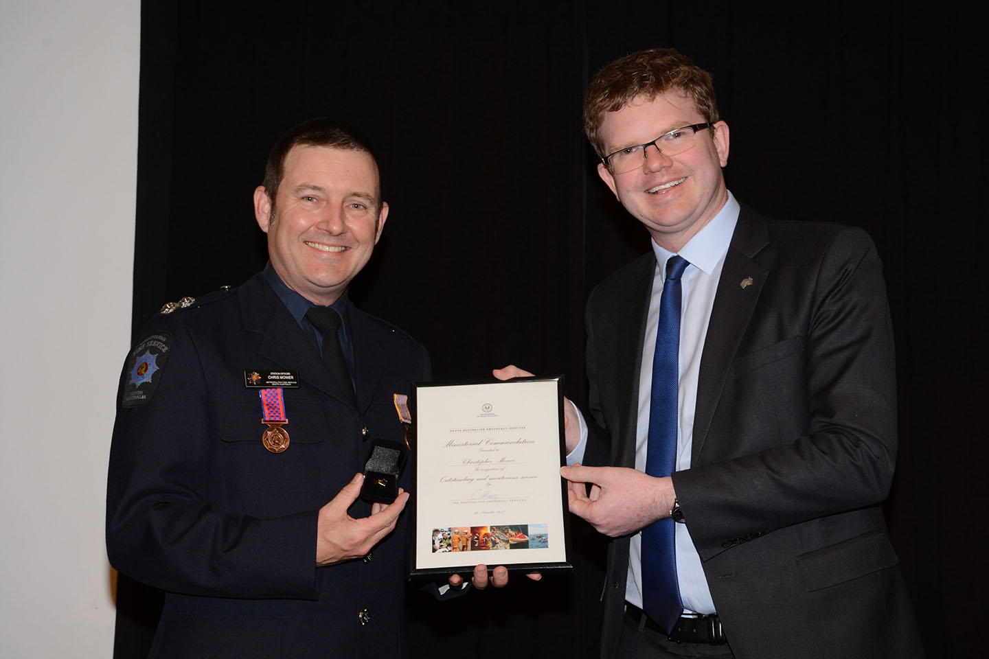 Emergency Services Medal and Commendations C Mower