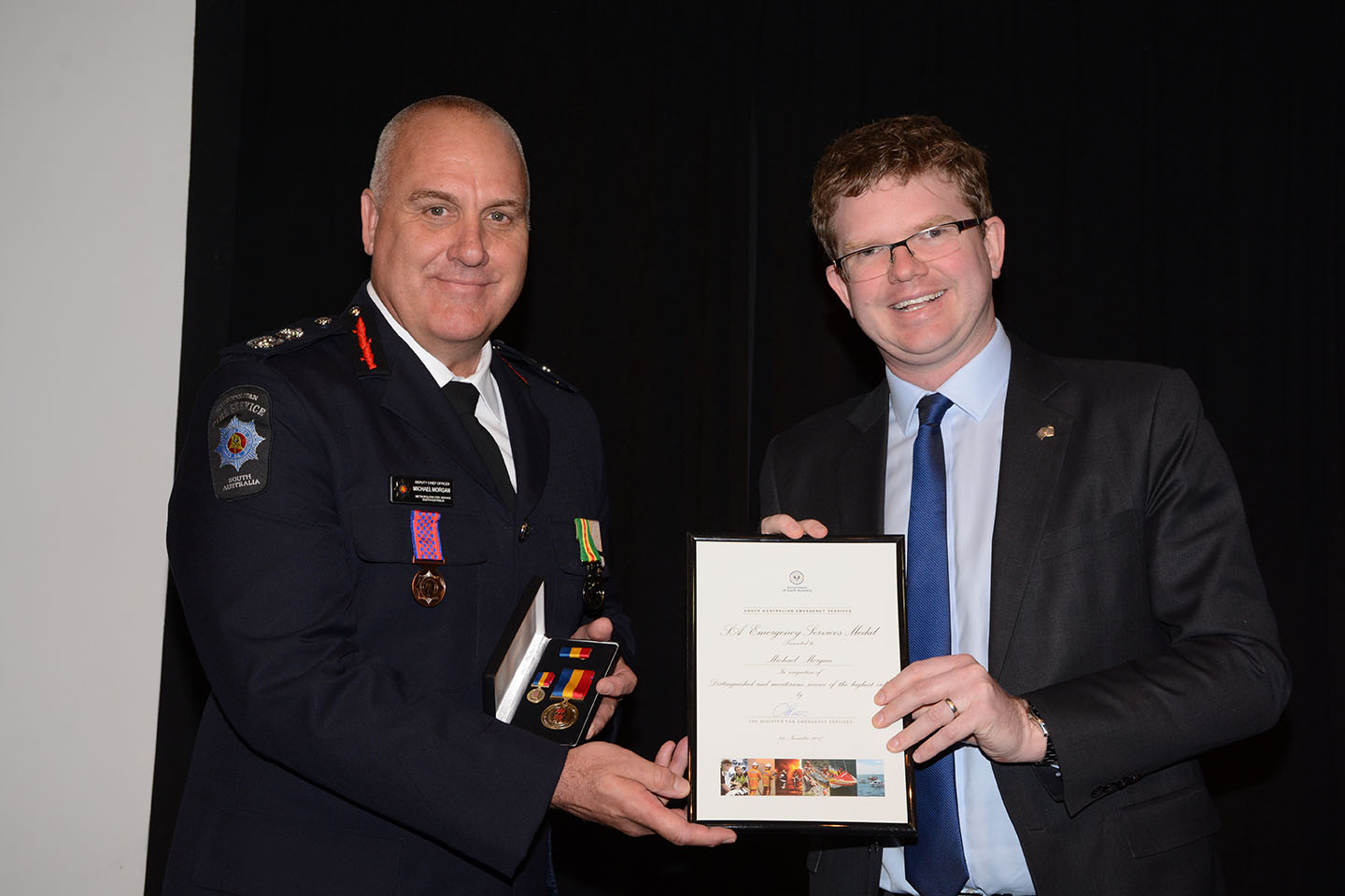 Emergency Services Medal and Commendations - M Morgan