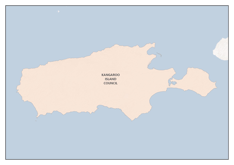 Map of the Kangaroo Island Bushfire Management Area