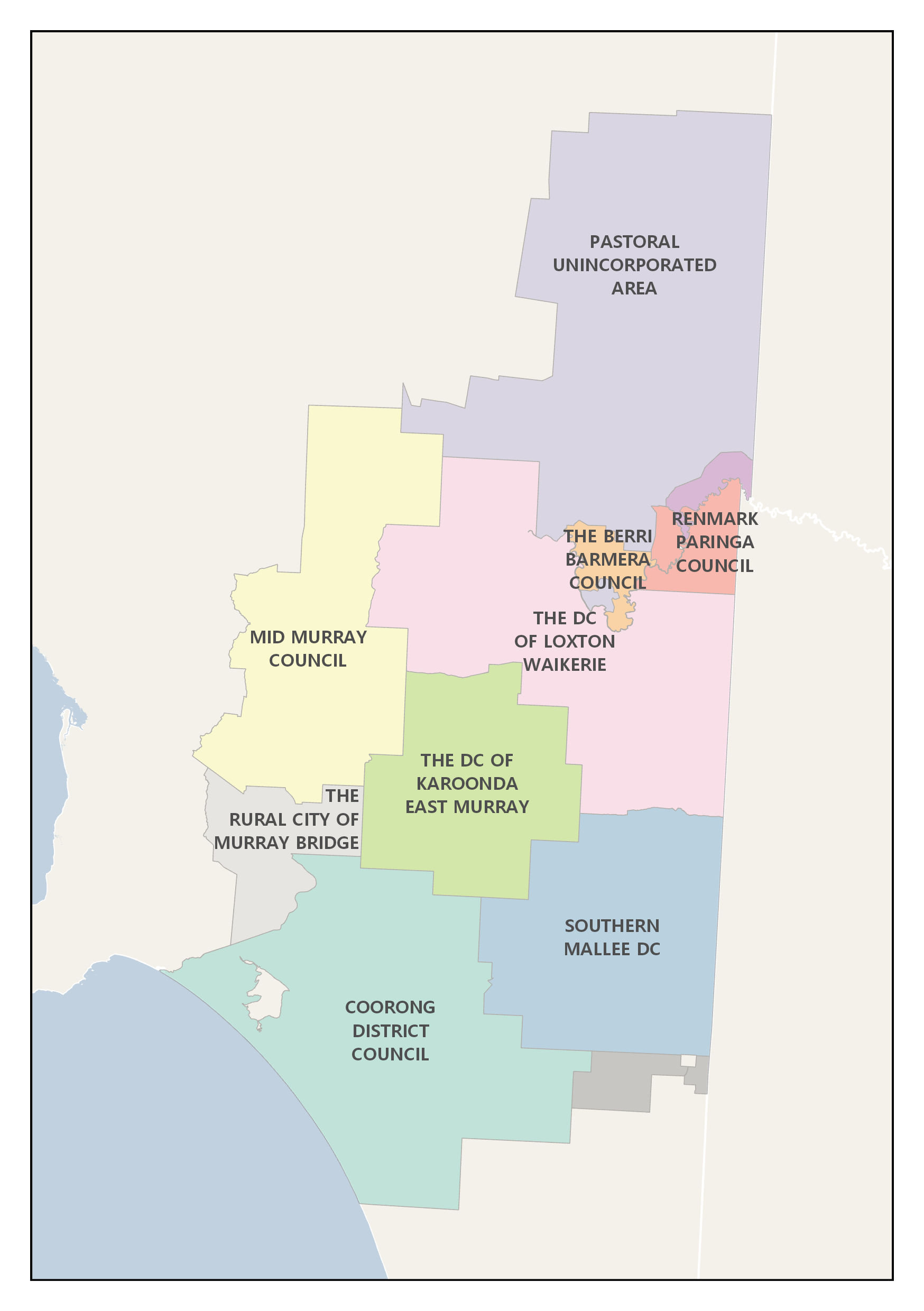 Map of the Murray Mallee Bushfire Management Area