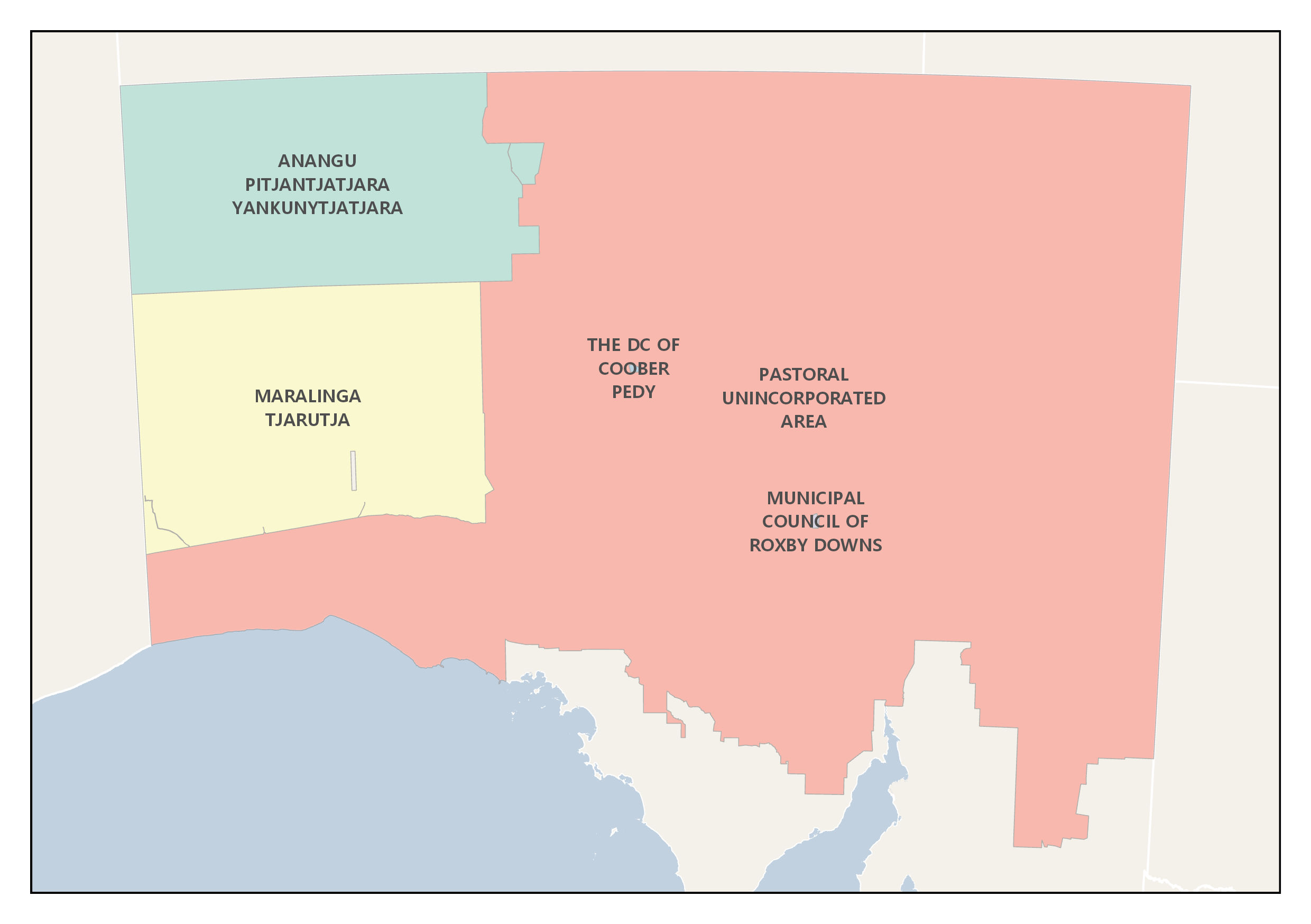 Map of the Outback Bushfire Management Area