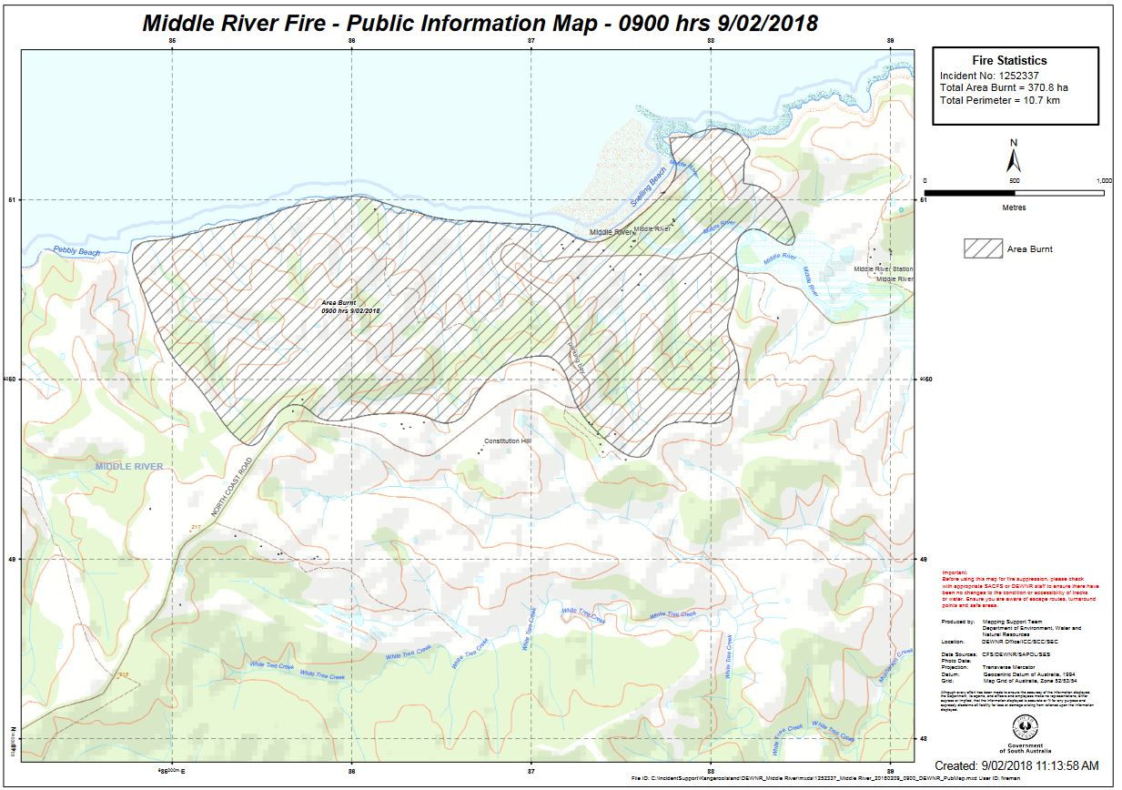 Middle River Fire - Public Info Map