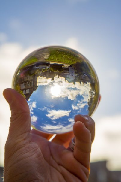 Crystal Ball And Blue Sky