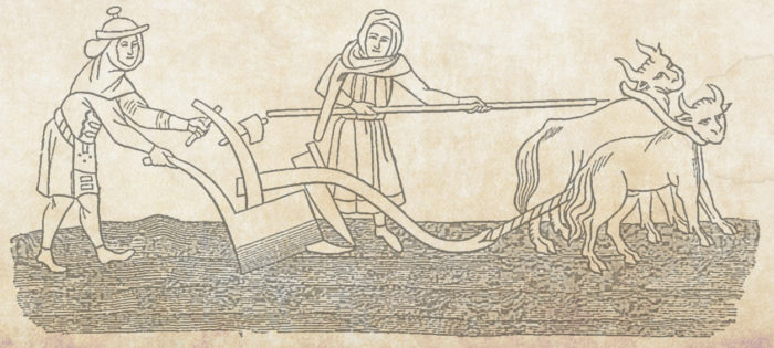 1280Px Ploughmen Fac Simile Of A Miniature In A Very Ancient Anglo Saxon Manuscript Published By Shaw With Legend God Spede Ye Plough And Send Us Korne Enow2 Copy