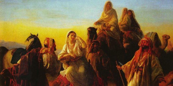 Isaac Meeting Rebecca By Friedrich Bouterwek