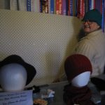 Liz prepares to install pegboard