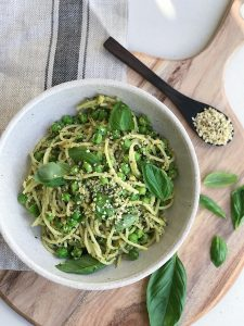 Vegan pesto sauce for pasta from THE BOD