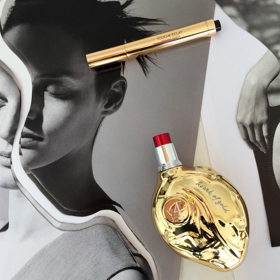 Your New Favourite Collage Artist Has A Thing For Gold Beauty Products