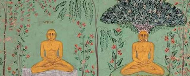 Rishabhanatha sitting in two stages of meditation  cca. 1680. san diego museum of art