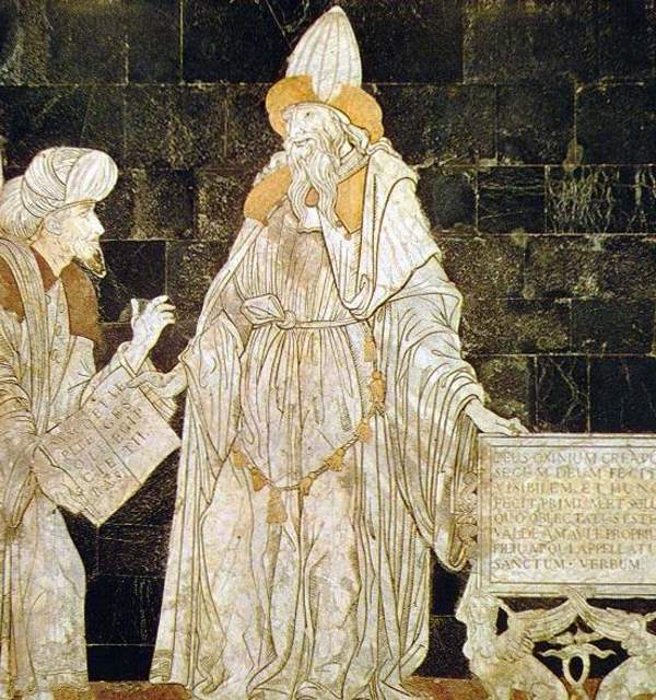 Hermes trismegistus  floor mosaic in the cathedral of siena