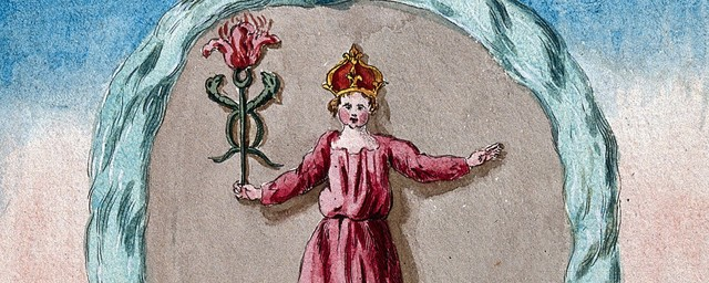 Crowned woman alchemical image wellcome collection
