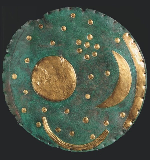 The nebra sky disc %282000%e2%80%931600 b.c.%29  excavated illegally in germany in 1999  is considered to be both humanity%e2%80%99s first known portable astronomical instrument and the oldest known visual depiction of celestial object