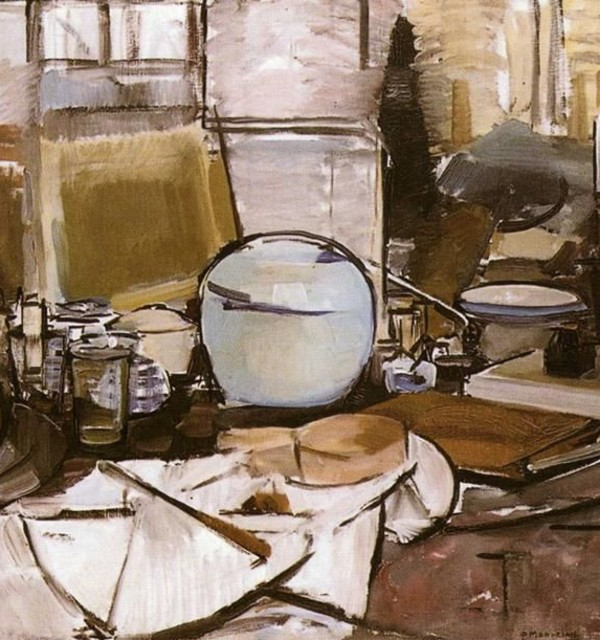 Still life with ginger jar i %28stilleven met gemberpot i%29  by piet mondrian  1911%e2%80%931912