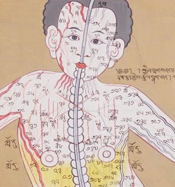 Med as med main.jpg tibetan yoga poster wellcome