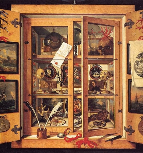 Cabinet of curiosities %28ca.1695%29 by domenico remps  held in the opificio delle pietre dure  florence