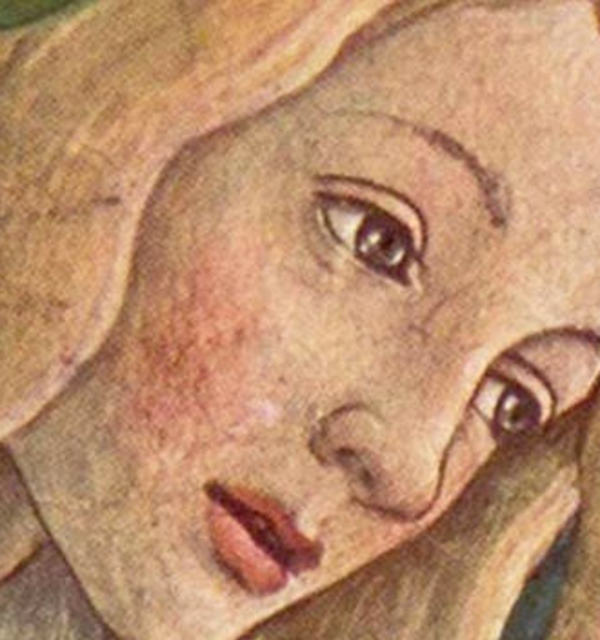Detail 2 from sandro boticelli%e2%80%99s trial of moses showing jethro%e2%80%99s daughter zipporah