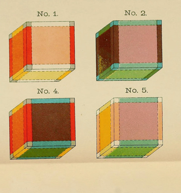 The coloured cubes %e2%80%94 known as %e2%80%9ctesseracts%e2%80%9d as depicted in the frontispiece to hinton%e2%80%99s the fourth dimension %281904%29