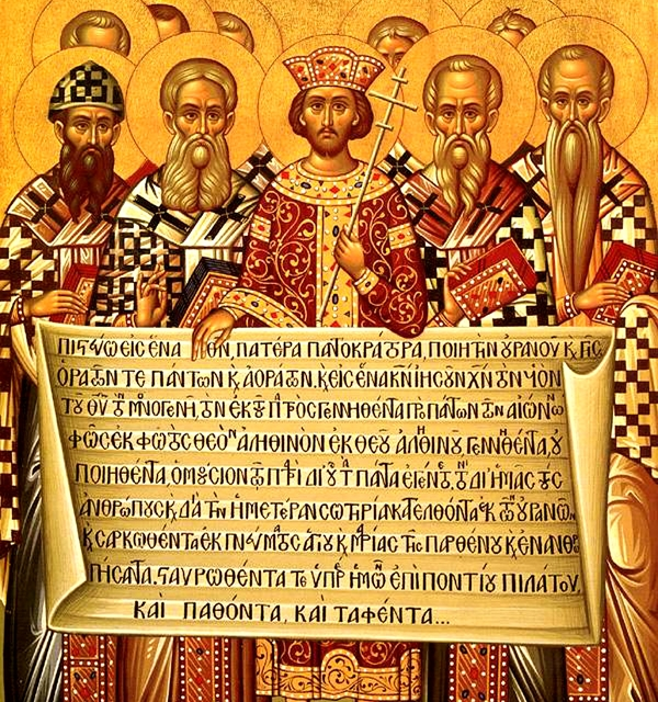 The nicene creed at the first council of nicaea