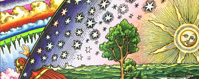 Flammarion woodcut colored