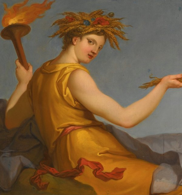 Autumn from allegories of the four seasons by hyacinthe collin de vermont