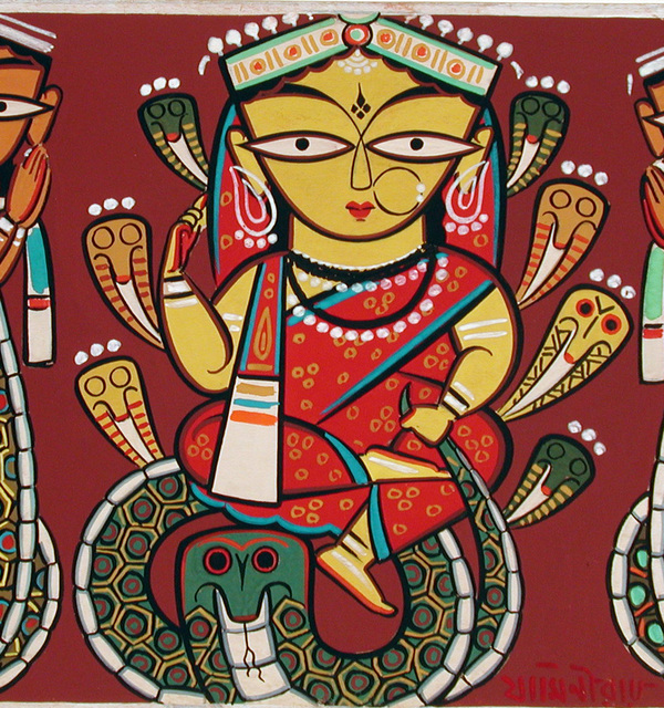 Manasa the snake goddess  jamini roy
