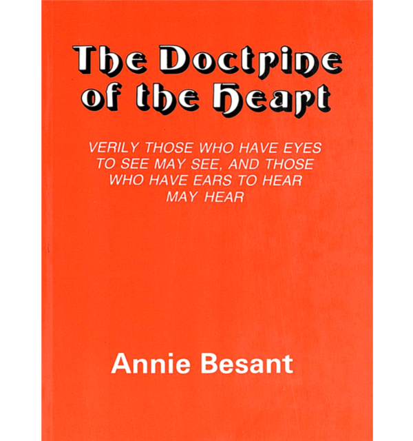 Besant the doctrine of the heart white bg