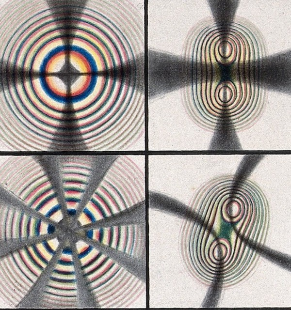 %e2%80%9ccoloured rings%e2%80%9d  mezzotint with watercolour by ren%c3%a9 henri digeon  after an image by j. silberman  plate viii in les ph%c3%a9nom%c3%a8nes de la physique %281868%29