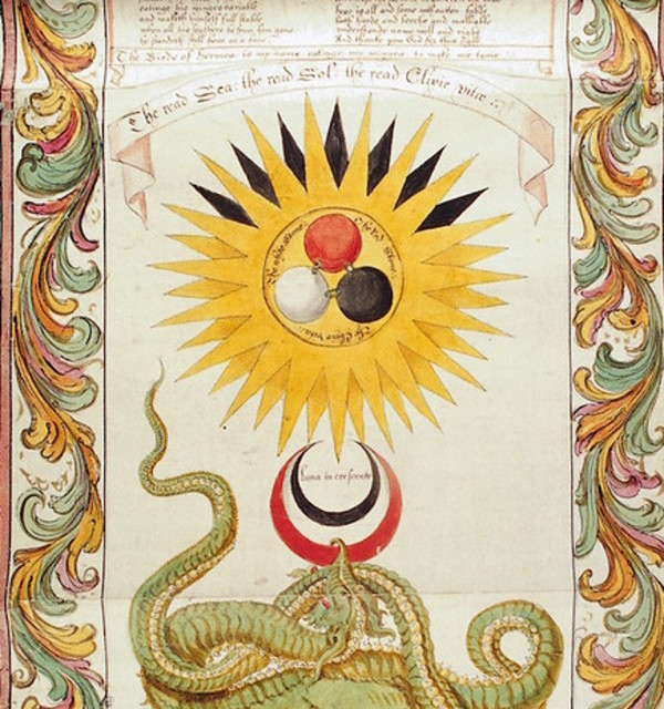 Section of the ripley scroll  16th century