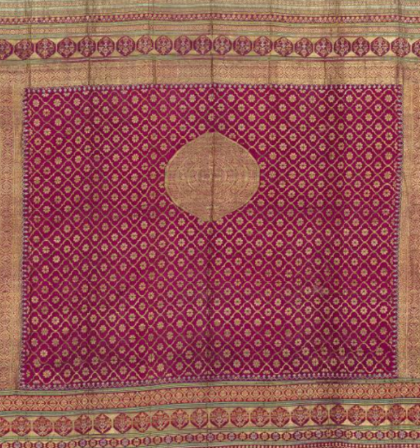 Fragment of gold cloth 1800s india