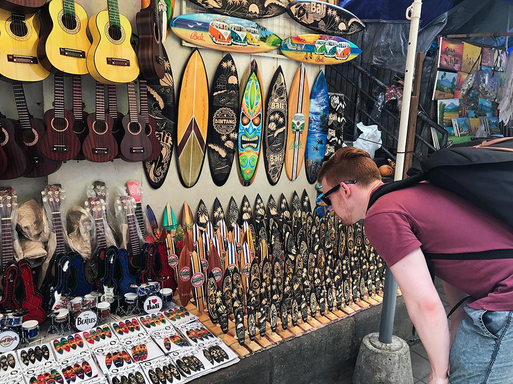 Ubud art market stall