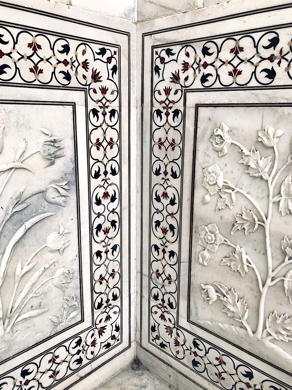 Some of the engravings in the marble