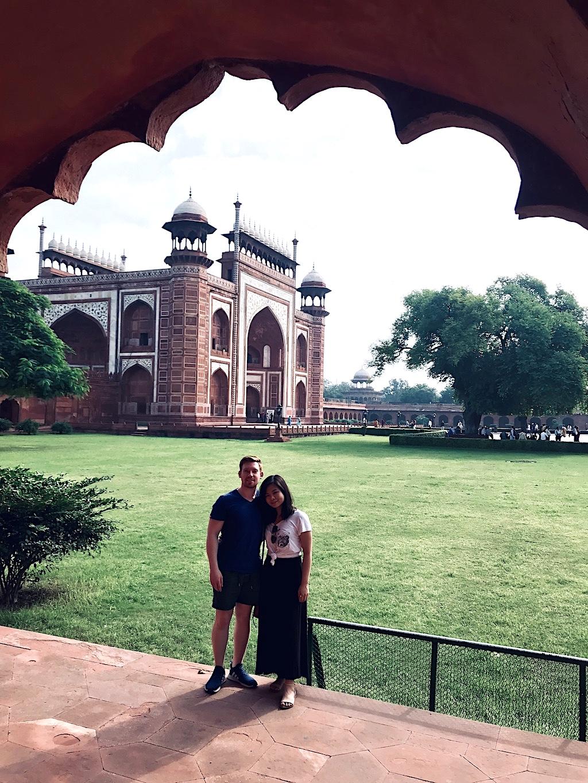 Entrance gate to the Taj Mahal