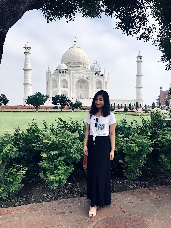 A popular postcard shot of the Taj Mahal
