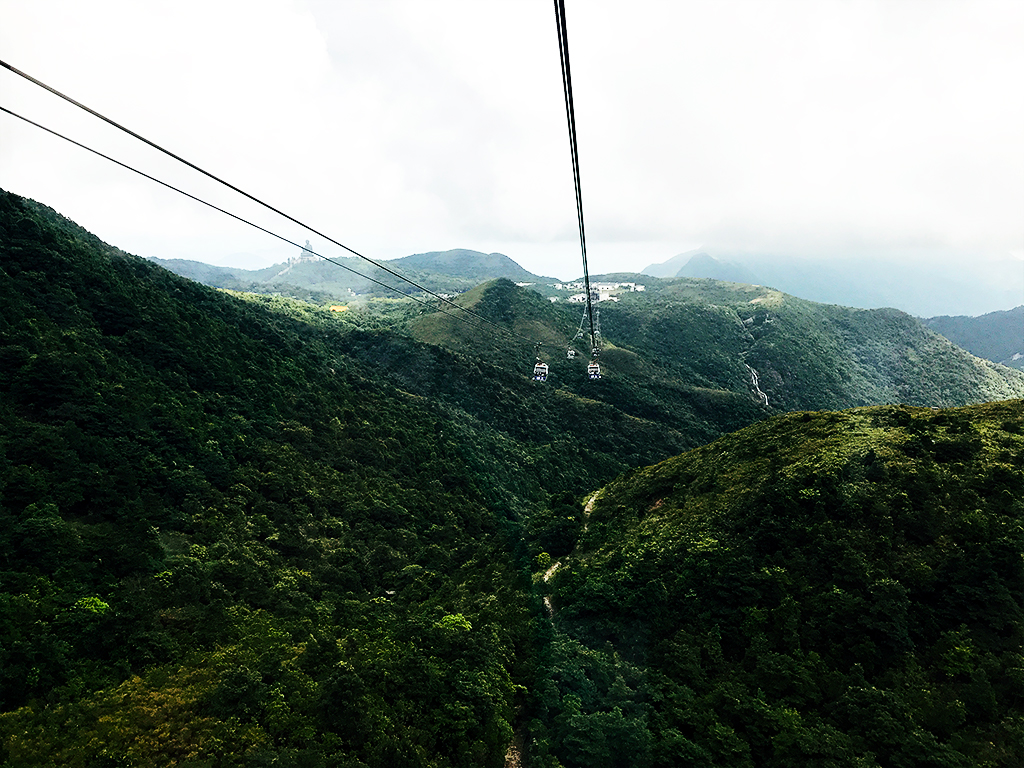 View from Ngong Ping 360 cable car