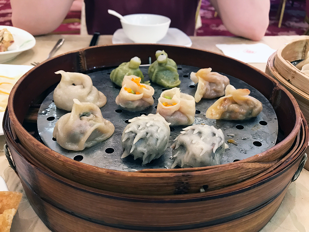 Steamed, savoury dumpling banquet selection from Xi'an