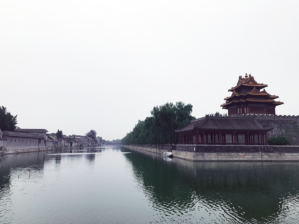 The moat surrounding Forbidden City