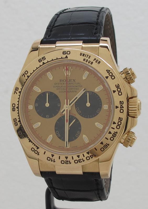 Rolex Ref 116518 18k Gold Paul Newman Panda Dial Oyster