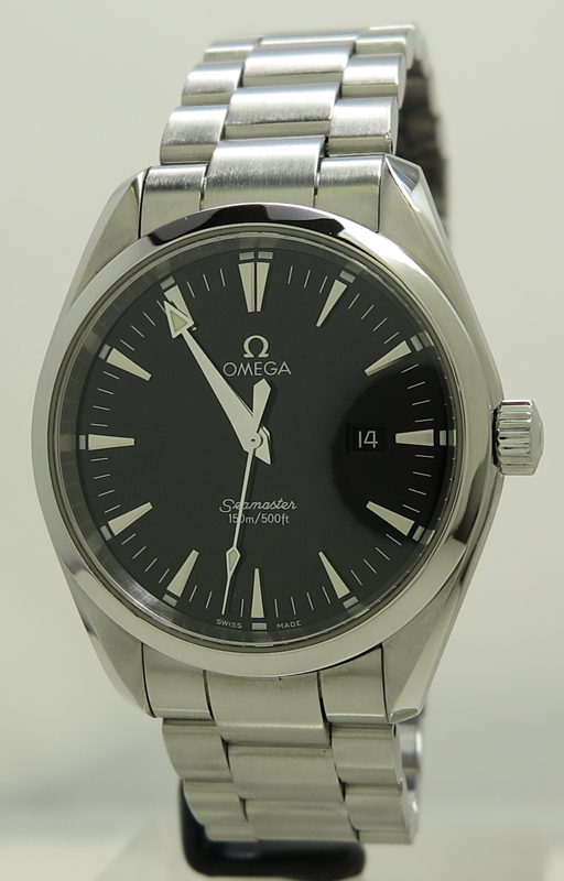 Omega Ref 2517 50 00 Steel Quartz 39mm Black Dial