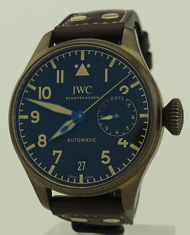 c3f66234549 IWC ref IW501005 Limited Edition Bronze 7 Day Automatic 46mm Flieger Big  Pilot on Brown Calf in Fine Condition from 2018 with Everything