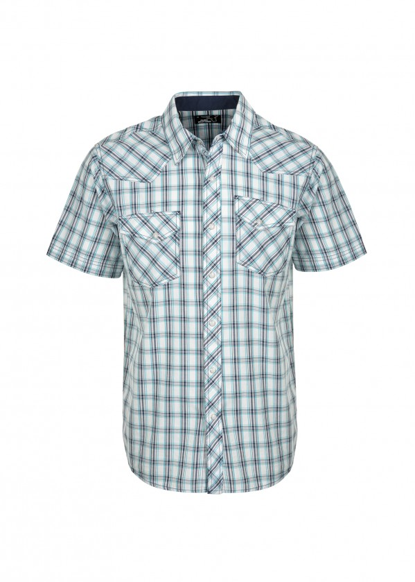 MENS BRENNAN CHECK S/S SHIRT