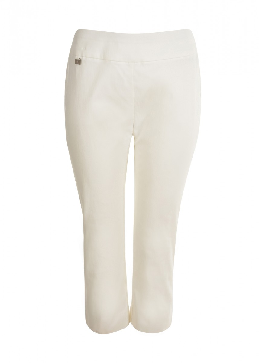 WOMENS TUMMY CONTROL PULL-ON SLIM CAPRI