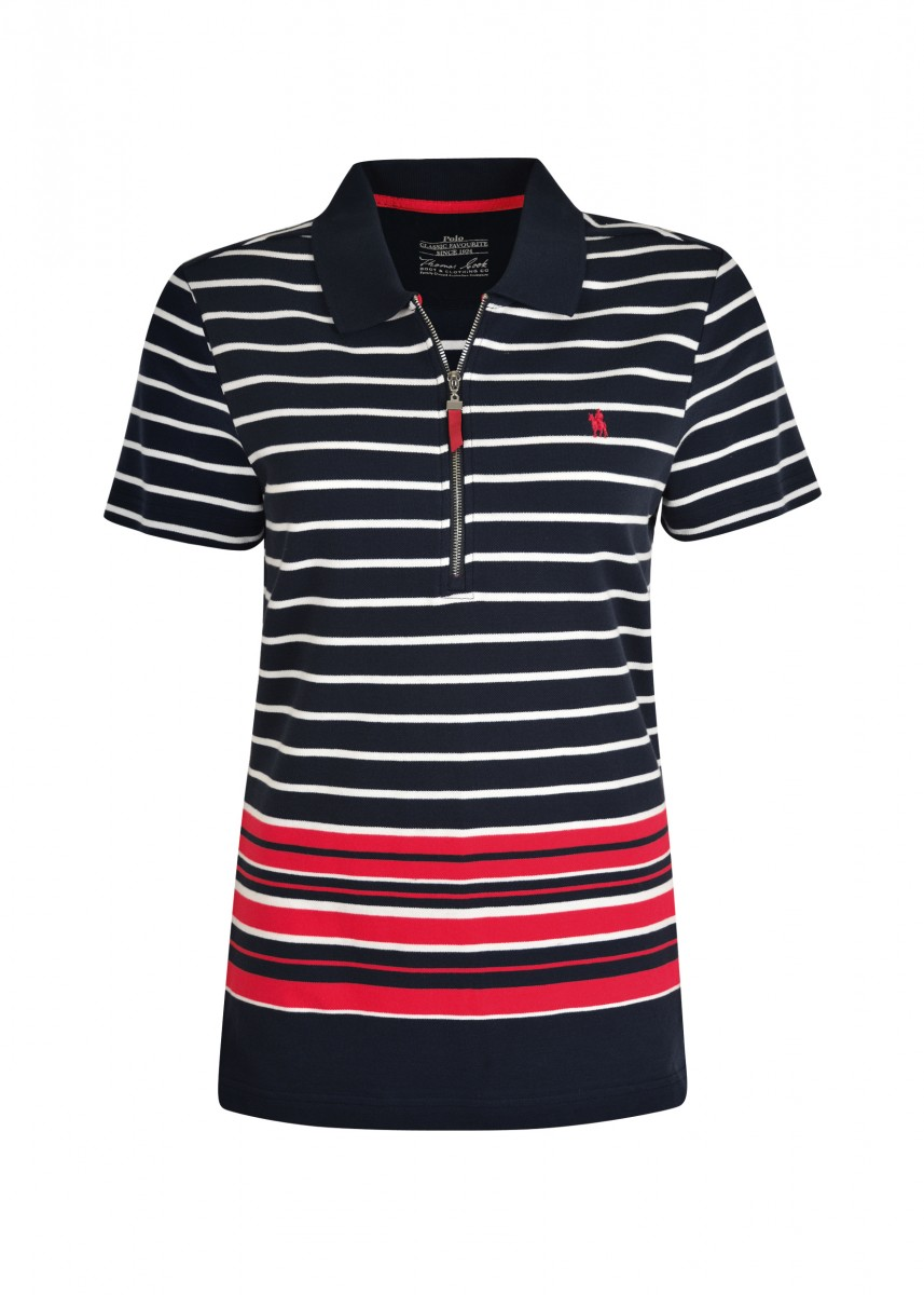 WOMENS VICTORIA ZIP S/S POLO