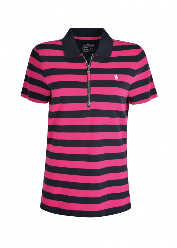 WMNS RILEY ZIP S/S POLO