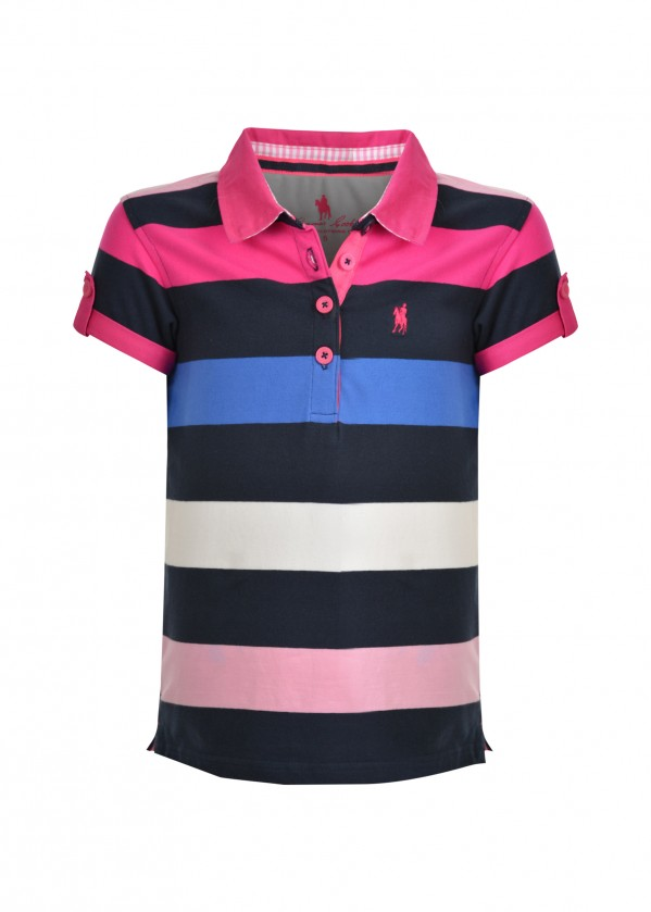 GIRLS TRISH STRIPE S/S POLO