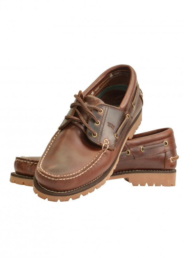 MENS CRUISER BOAT SHOE - CLEATED SOLE