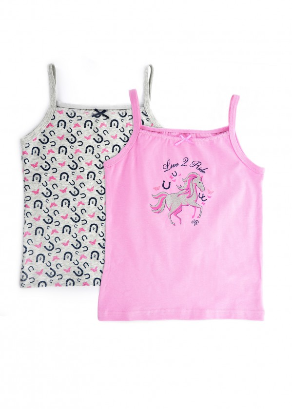 GIRLS SINGLET (TWIN PACK)
