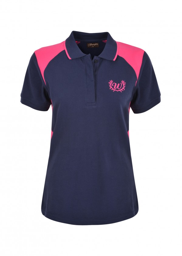 WOMENS KELLY SPLICED S/S POLO
