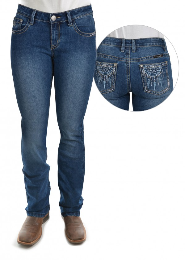 WOMENS TRISHA BOOT CUT JEAN - 34 LEG