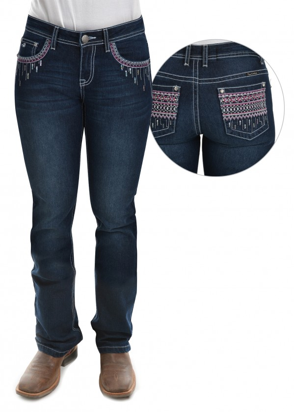WOMENS SHAWNA BOOT CUT JEAN - 32 LEG
