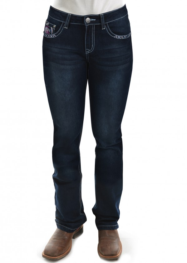 WOMENS LEAH BOOT CUT JEAN 32 LEG
